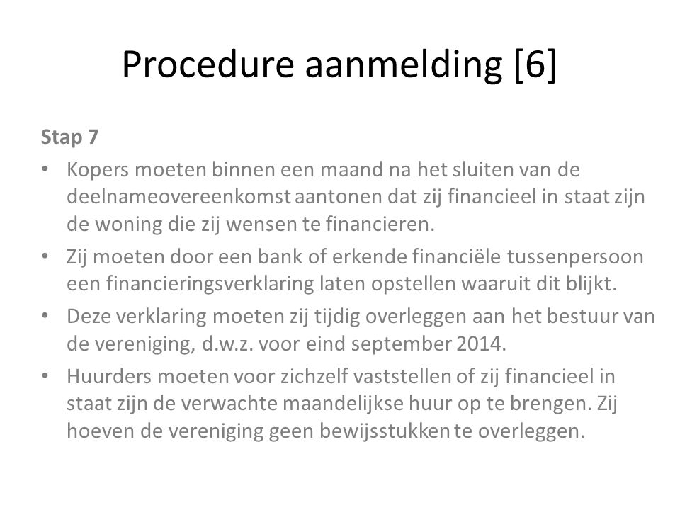 Procedure aanmelding [6]